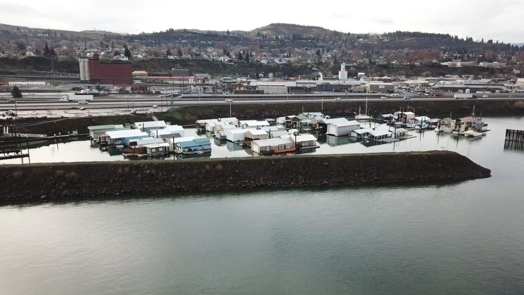 The Dalles Marina Boat Houses